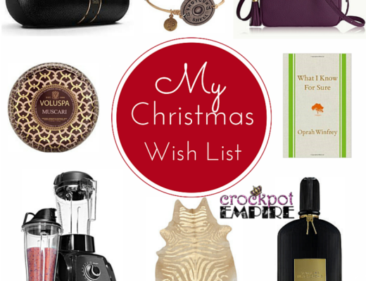Items on Crockpot Empire's Christmas wish list and a great gift giving guide including Tom Ford perfume, GiGi handbag, Candle, Beats by Dre, and a zebra rug