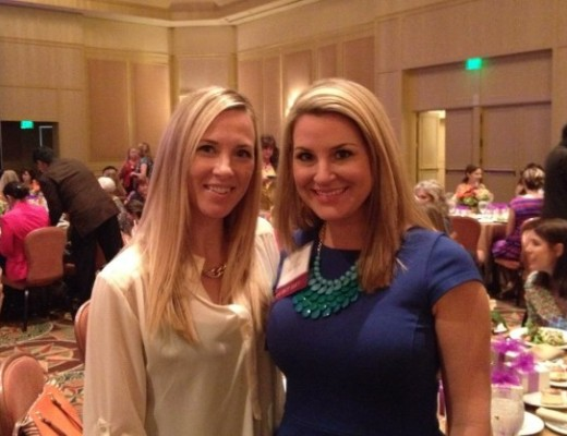 Anna Bozman Thompson and Kimberly Bishop at the CURE Childhood Cancer Quiet Hero Luncheon