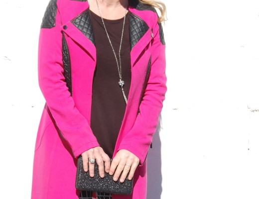 Be bold, be you- Pink, black and leather outfit.