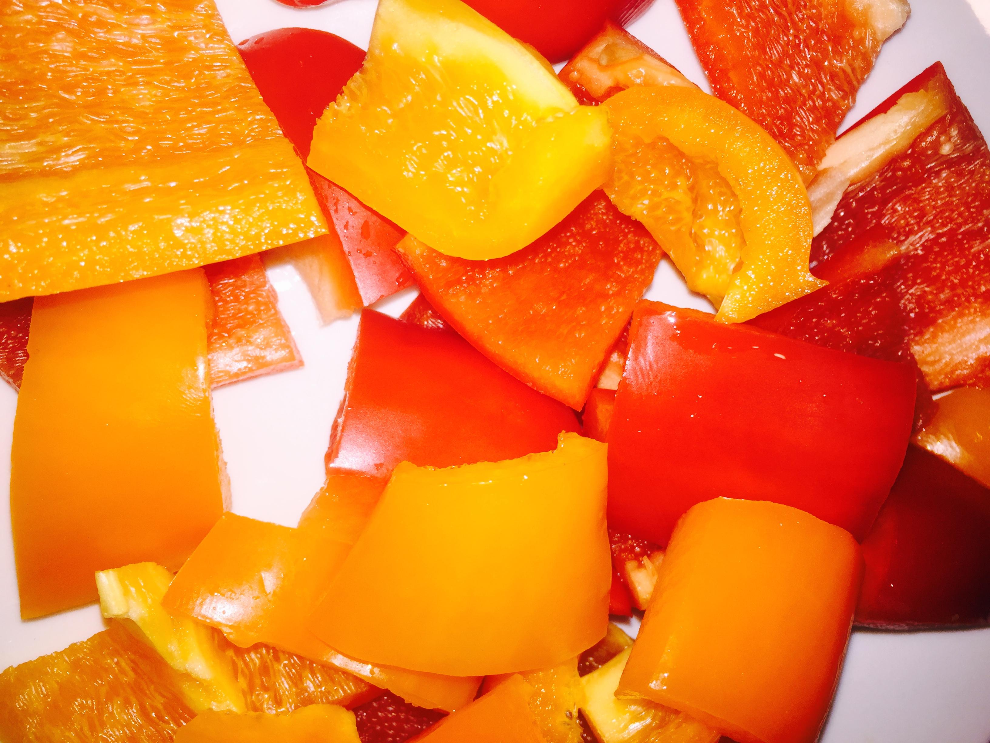 Mediterranean Bake-Ingredients-Bell Peppers-Crockpot Empire