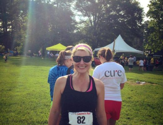 Running my first 10K at CURE Childhood Cancer Lauren's Run and Picnic