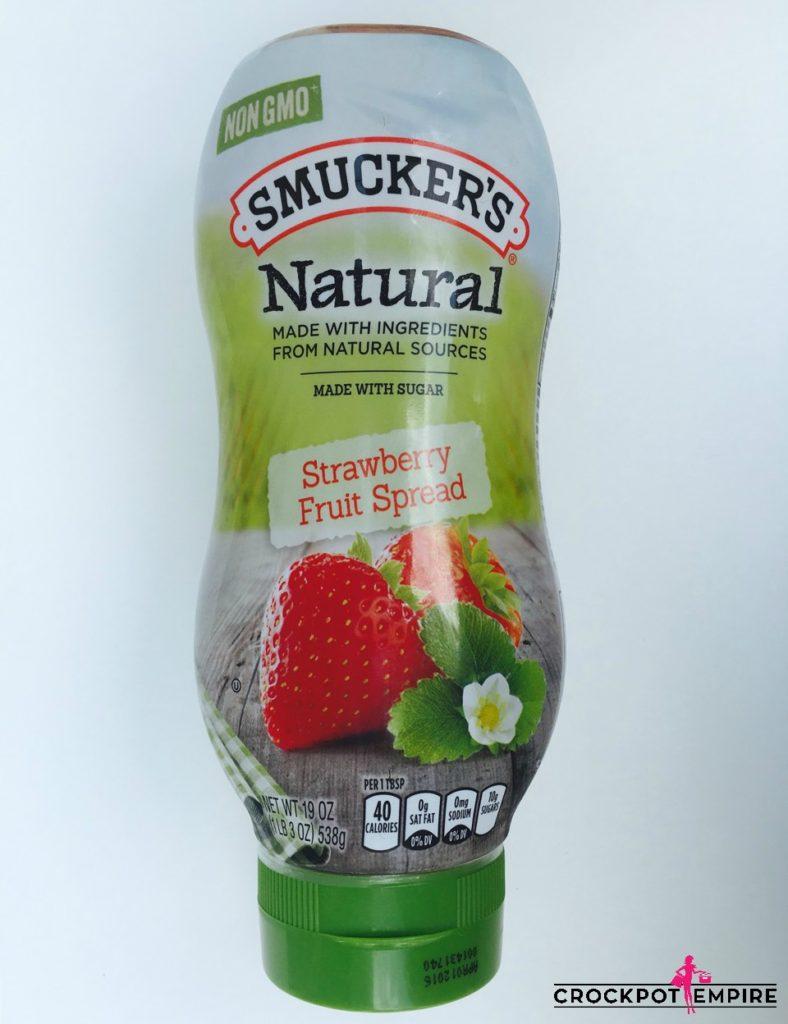 Peanut Butter Jelly Smucker's Natural Jelly Non GMO Crockpot Empire