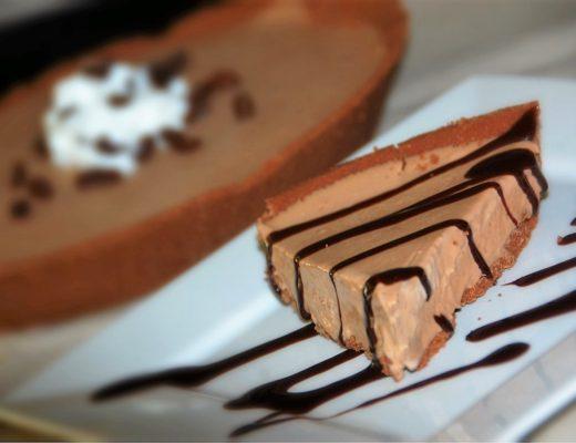 Frozen Mocha Pie dessert with coffee by crockpot empire