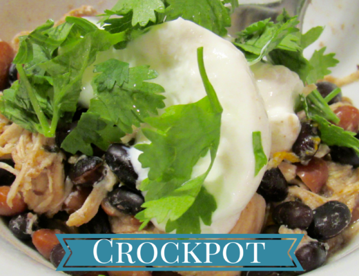 Crockpot Cuban chicken with Mojo marinade, black beans and pinto beans