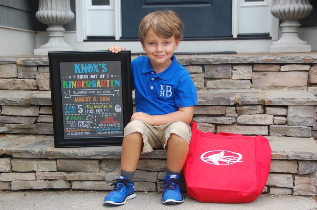 Knox Bishop Kindergarten Crockpot Empire First Day of School Sign Etsy