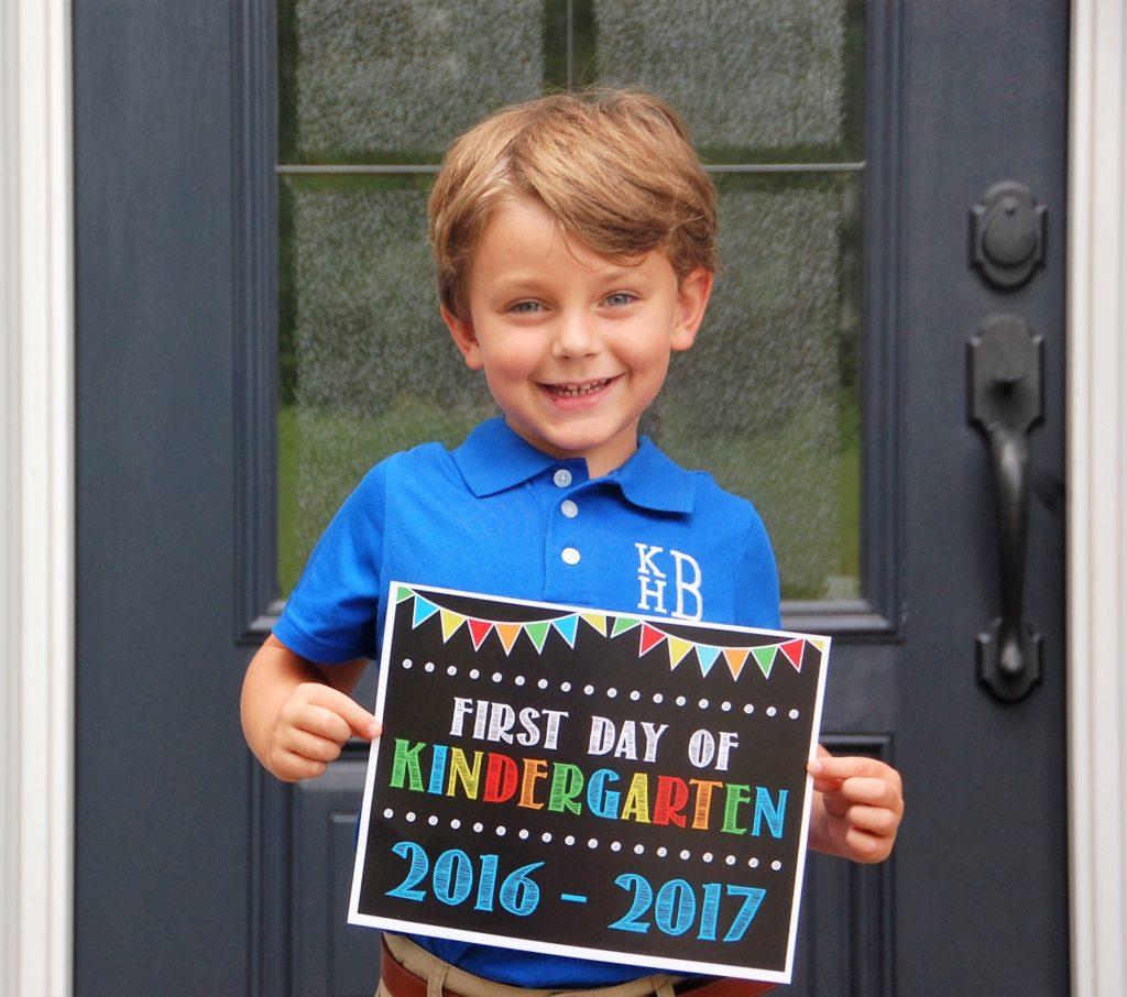 Knox Bishop Kindergarten Fellowship Etsy First Day Sign Monogram Shirt