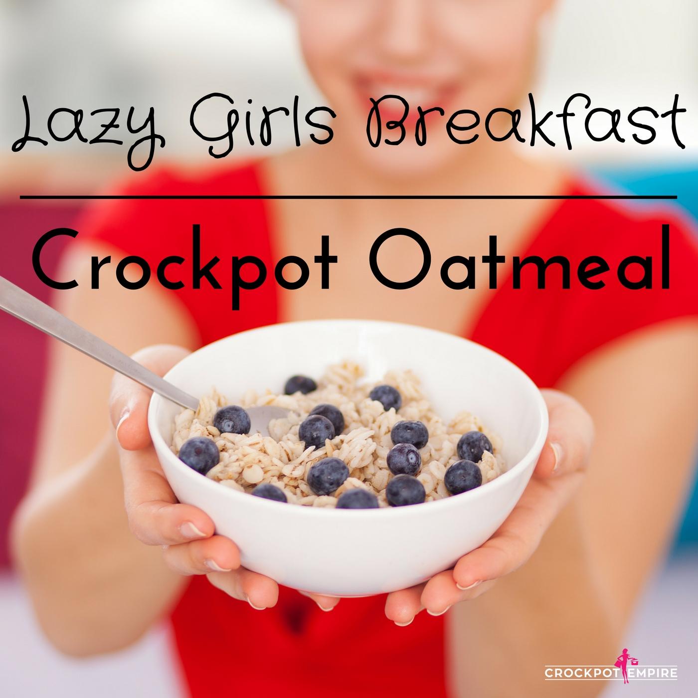 Crockpot Oatmeal using steel oats overnight - Crockpot Empire
