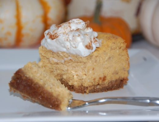 This Paula Deen pumpkin cheesecake is fluffy and dense and the perfect fall dessert made by Crockpot Empire