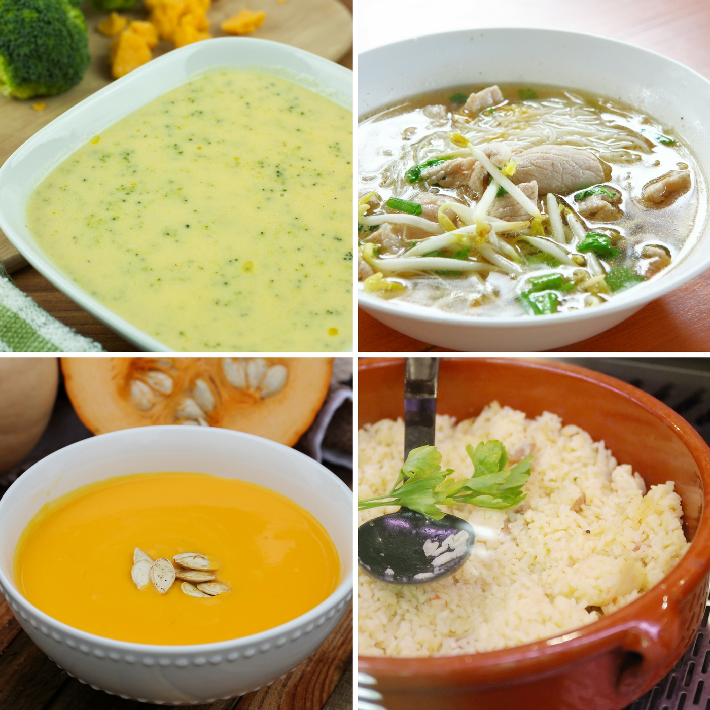 Homemade Chicken Broth can be used to create soups like Butternut Squash, Broccoli, Chicken Noodle and even rice