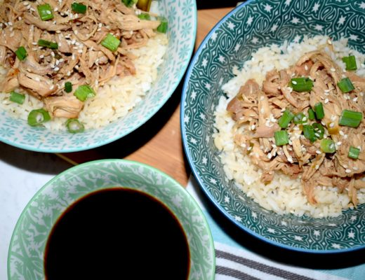 Kikkoman Crockpot Soy Sauce Chicken with rice bowls