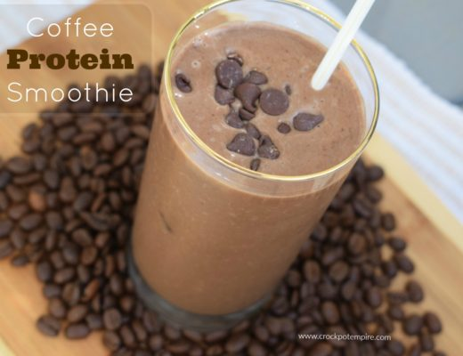 Chocolate Coffee Protein Smoothie with Folgers Coffeehouse Blend and Coffee Beans