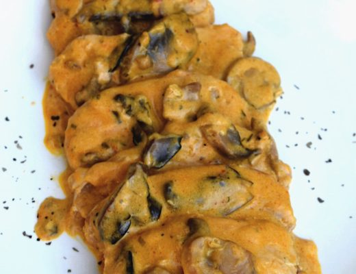 Crockpot Creamy Italian Mushroom Pork Chops