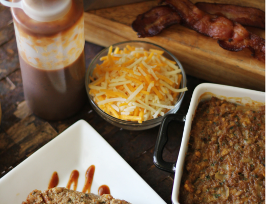 Crockpot BBQ Cheeseburger Meatloaf - Crock Pot Express BBQ Cheeseburger Meatloaf Recipe - Crockpot Empire