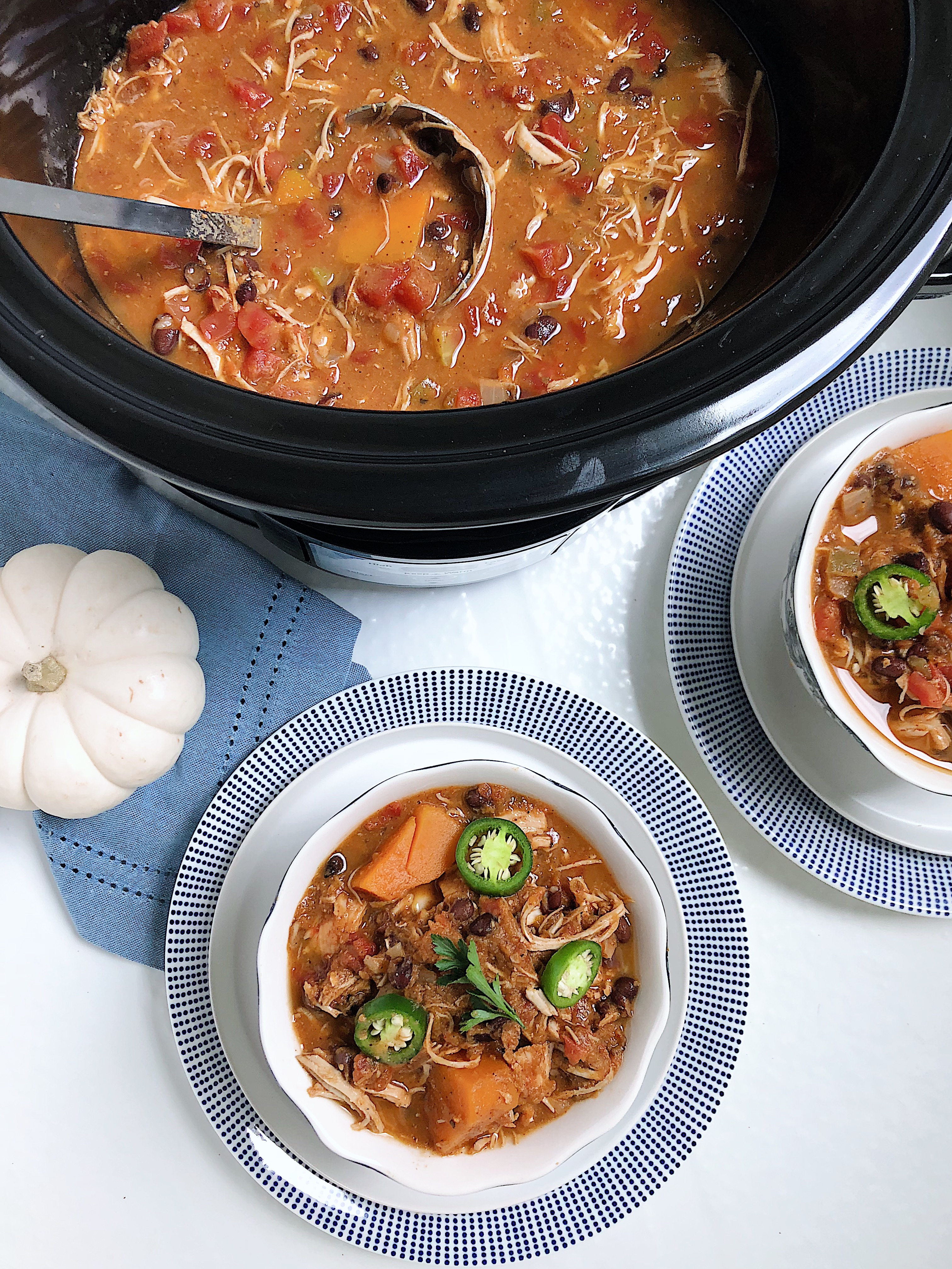 Crockpot Pumpkin Chicken Chili