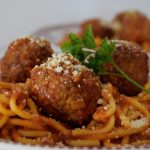 Crockpot Spaghetti and Meatballs in the Crock Express