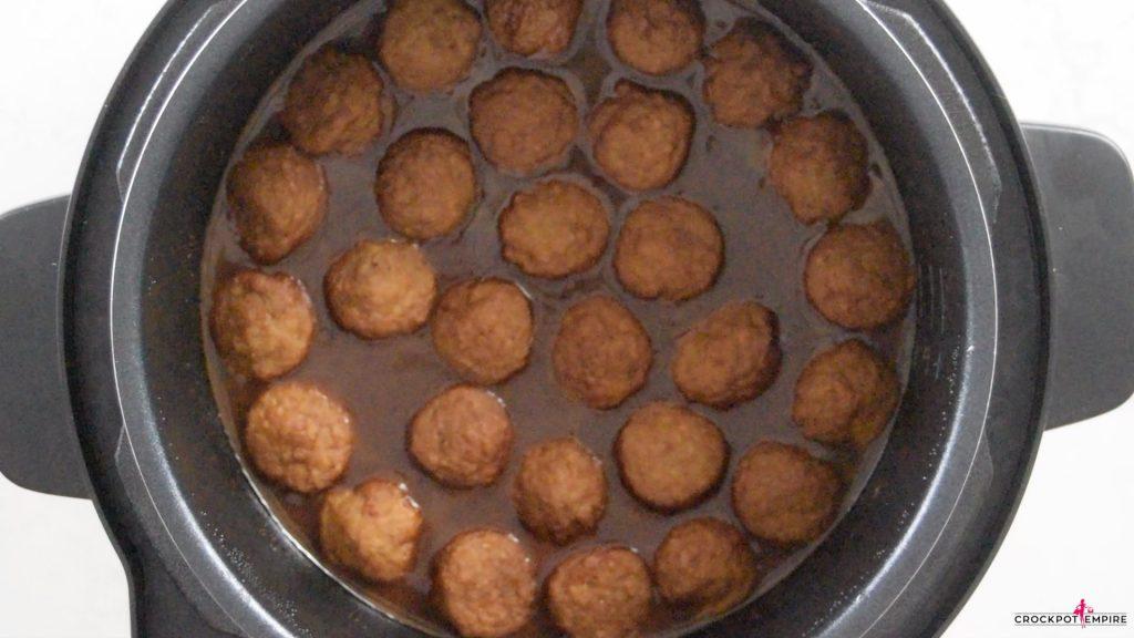 Crockpot Cocktail Grape Jelly Meatballs Appetizer
