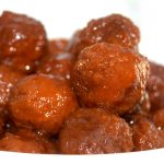 Crockpot Cocktail Grape Jelly Chili Meatballs Appetizer