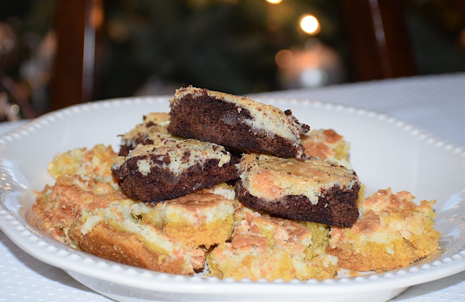 These Neiman Marcus chocolate brownies are delicious and rich with this unique crusty cream cheese topping