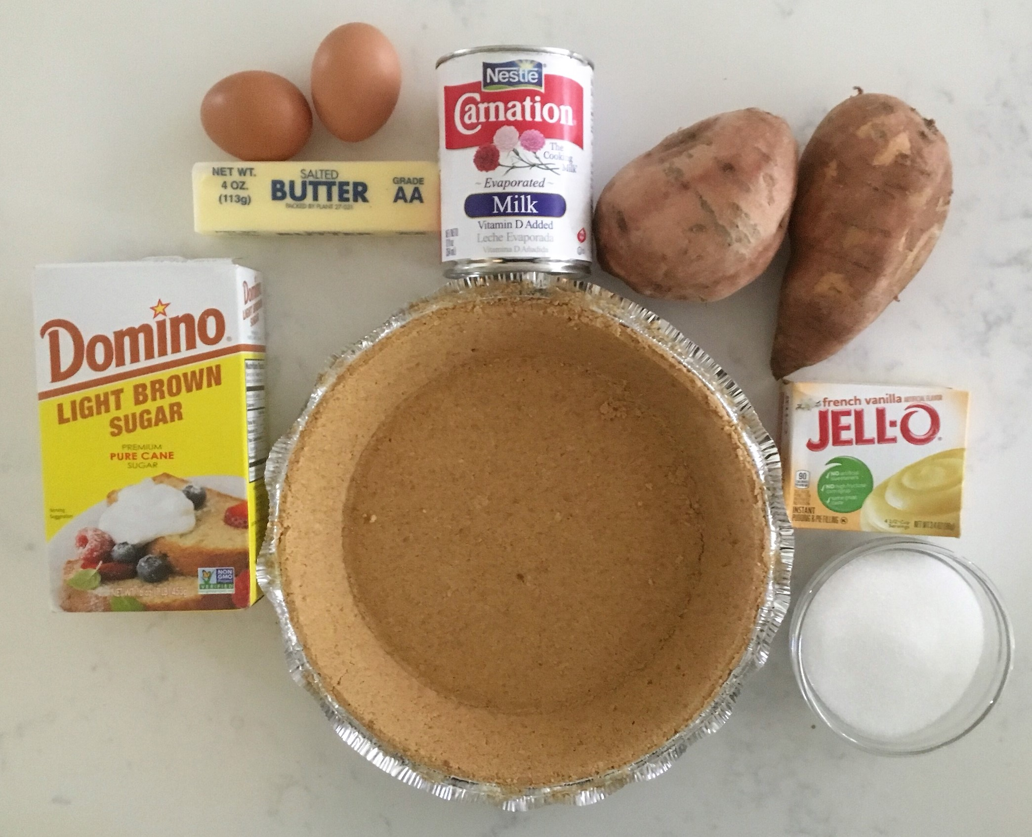Ingredients for Sweet Potato Pie by Crockpot Empire