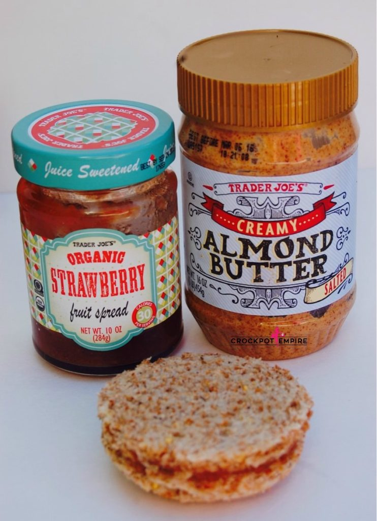 Trader Joe's Almond Butter and Organic Strawberry Jelly