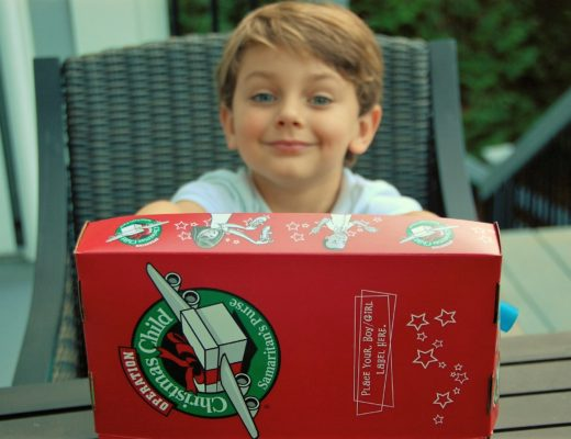 Knox Bishop getting ready to fill his Operation Christmas Child Shoebox for Samaritan's Purse