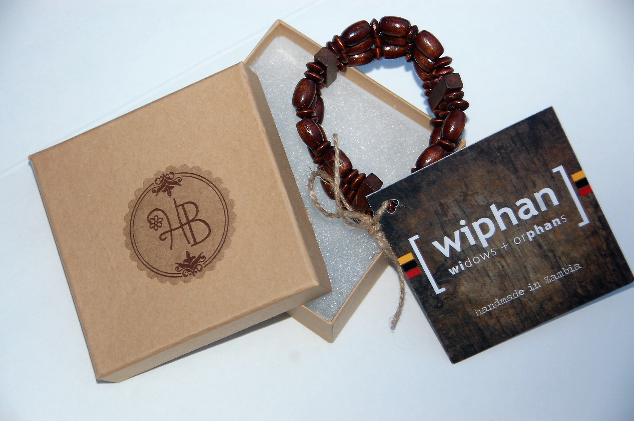 This bracelet is supporting WIPHAN ministry that helps women and orphans in Zambia. I paired it with HM Willow bracelets for Honey Butter Boutique