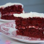 Red Velvet Cake from Divas Can Cook with cream cheese frosting