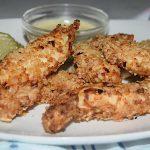 Healthy Crispy Chicken with Sweet Mustard Dip