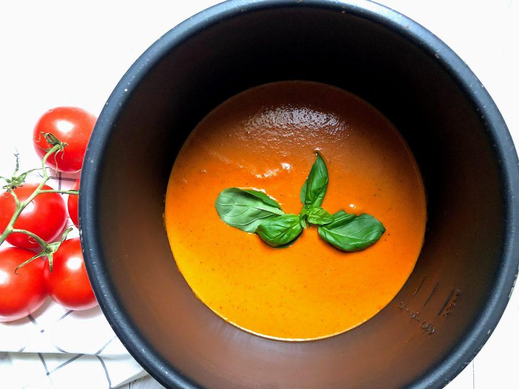 Crockpot Nordstrom Tomato Basil Soup in the Express Crock
